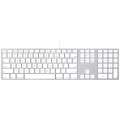Apple Wired Keyboard, гравировка - US + RU + UA (MB110LL/А)