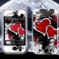 Leather Skin MacLove Two Hearts for iPhone 3G/3GS