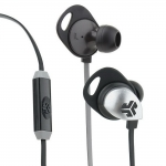 JLab Audio Epic Premium Earbuds with Universal Mic Black/Gray (EPIC-BLKGRY-BOX)