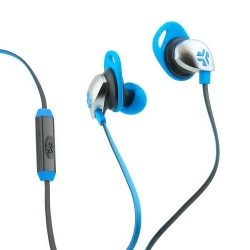 JLab Audio Epic Premium Earbuds with Universal Mic Blue/Gray (EPIC-BLUGRY-BOX)