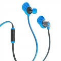 JLab Audio Epic Premium Earbuds with Universal Mic Blue/Gray (EPIC-BLUGRY-BOX-B2)