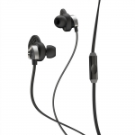 JLab Audio Epic Premium Earbuds with Universal Mic Black/Gray (EPIC-BLKGRY-BOX-B2)