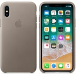 Apple iPhone X Leather Case - Taupe (MQT92)