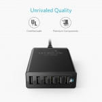 Anker PowerPort 6, 60W 6-Port USB Wall Charger - Black (A2123113)