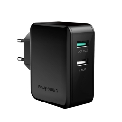 RAVPower 30W Dual USB Charger Quick Charge 3.0 (RP-PC006BK)