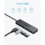 Anker 4-Port Ultra-Slim USB 3.0 Hub 0.6m (A7516012)