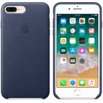 Apple Leather Case iPhone 7 Plus / iPhone 8 Plus - Midnight Blue (MQHL2)