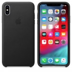 Apple Leather Case iPhone XS Max - Black (MRWT2)