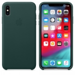 Apple Leather Case iPhone XS Max - Forest Green (MTEV2)
