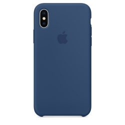 Apple iPhone X Silicone Case - Blue Cobalt (MQT42)