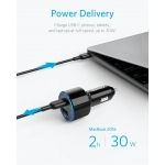 Anker USB-C Car Charger, PowerDrive II PD with 1 PD and 1 PIQ (A2229011)