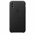 Apple Leather Case для iPhone X - Black (MQTD2)