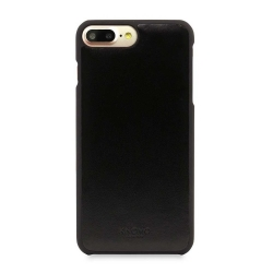Knomo Leather Snap-On Case для iPhone 8 Plus / iPhone 7 Plus / iPhone 6S Plus - Black (14-214-BLK)