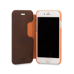 Knomo Premium Leather Folio Case для iPhone 8 / 7 / 6 - Brown (90-070-BRN)