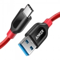 Anker PowerLine+ USB-C to USB-C 3.0; 0.9M - red (A8168091)