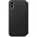 Apple Leather Folio для iPhone X - Black (MQRV2)