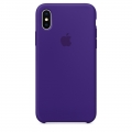 Apple Silicone Case для iPhone X - Ultra Violet (MQT72)