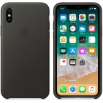Apple Leather Case iPhone X - Charcoal Gray (MQTF2)