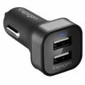 Spigen 4.8A Dual Port USB Car Charger F24QC - черное (SGP11749)