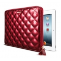SGP Leather Case Zipack Series Enamel Red for iPad 4, iPad 3, iPad 2 (SGP08849)