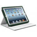 SGP Leather Case Folio Series Dark Green for iPad 3, iPad 2 (SGP08847)