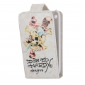 Leather Case Ed Hardy & Christian Audigier Flip Top Eagle for iPhone 3G/3GS White