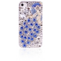 Alef Design Crystal Club for iPhone 4, 4S (Blue Peahen)