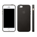 Apple Leather Case for iPhone 5, 5S - Black (MF045)