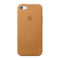 Apple Leather Case for iPhone 5, 5S - Tan (MF041)