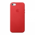 Apple Leather Case for iPhone 5, 5S - Red (MF046)