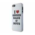 Benjamins Shoes Bags & Boys for iPhone 5, 5S - White (S5WSBB)