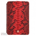 BestSkin Leather Flip Case Red Python for iPad Mini (LCM-0011)