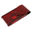 BestSkin Leather Case Red Python for iPhone 4, 4S (LC-0025)