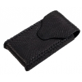 BestSkin Leather Case Frosted Black Python for iPhone 4, 4S (LC-0018)