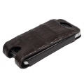 BestSkin Leather Case Dark Brown Caiman for iPhone 4, 4S (LC-0117)