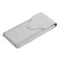 BestSkin Leather Case White Ostrich for iPhone 4, 4S (LC-0141)