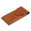 BestSkin Leather Case Ginger for iPhone 4, 4S (LC-0142)