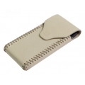 BestSkin Leather Case Cream for iPhone 4, 4S (LC-0147)