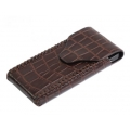 BestSkin Leather Case Brown Crocodile for iPhone 4, 4S (LC-0167)