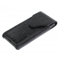 BestSkin Leather Case Black Crocodile for iPhone 4, 4S (LC-0169)