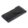 BestSkin Leather Case Black Python for iPhone 4, 4S (LC-0171)
