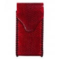 BestSkin Leather Case, Sea Snake for iPhone 5, 5S - Red (LC-0017)