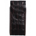 BestSkin Leather Case, Crocodile for iPhone 5, 5S - Dark Brown (LC-0168)
