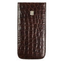 BestSkin Leather Case, Alligator for iPhone 5, 5S - Dark Brown (LC5-0186)