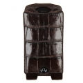 BestSkin Leather Case, Alligator for iPhone 5, 5S - Dark Brown  (LC5-0230)