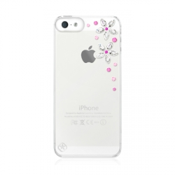 Bling My Think Transparent Case Flowers Ser. Pink Mix for iPhone 5, 5S (BMT-22-00-03-10)
