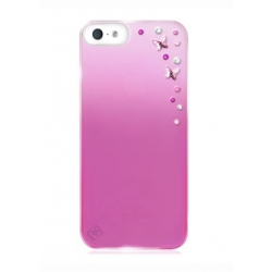 Bling My Think Metallic Mirror Case Butterflies Ser. Light Rose for iPhone 5, 5S (BMT-22-16-09-41)