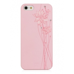 Bling My Thing Lotus Case with Swarovski crystals for iPhone 5, 5S - Pink/Pink  (BMT-AI5-LT-PK-CAB)