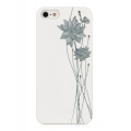 Bling My Thing Lotus Case with Swarovski crystals for iPhone 5, 5S - White/Grey (BMT-AI5-LT-WH-CRY)