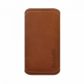 Bugatti Leather Pouch Pocket for iPhone 5, 5S - Brown
